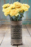 Bouquet of yellow carnations — Stock Photo