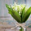 Bouquet of lily of the valley flowers — Stock Photo #47904823