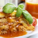 Lasagna, traditional italian dish — Stock Photo #47974553