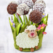 Easter chocolate cake pops — Stock Photo