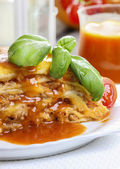 Lasagna, traditional italian dish — Stock Photo