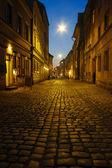 Kazimierz, former jewish quarter of Krakow: Szeroka Street by ni — Stock Photo