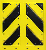 Wooden black and yellow gate — Stock Photo