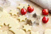 Gingerbread cookies, christmas delicacy — Stock Photo