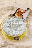 CIRCA 1903: Vintage compact powder. Cosmetics by H. Kielhauser b — Stock Photo