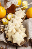Christmas cookies in star shape — Stock Photo