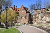 Park by the medieval castle, Wieliczka, Poland. — Foto Stock