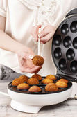How to make cake pops - tutorial — Stock Photo
