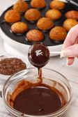 How to make cake pops - tutorial — Stock Photo