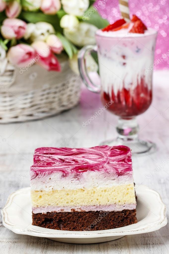Milkshake Decorated Cake