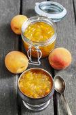 Peach jam — Stock Photo