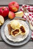 Muffin con mela — Foto Stock