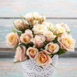 Bouquet of pink pastel roses — Stock Photo #51321085
