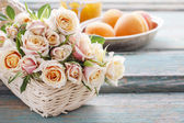 Bouquet of pink pastel roses — Stock fotografie