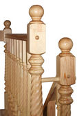 Wooden baluster isolated on white — Photo
