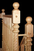 Wooden baluster isolated on black — Foto de Stock