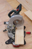 Circular saw standing on the floor — Foto Stock