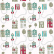Little town. seamless pattern — Stockvektor
