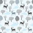 Seamless pattern with deers. Vector illustration. — Stock Vector
