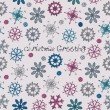 Seamless pattern with snowflakes. Vector illustration. - Stock Vector