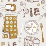 Lemon pie. Seamless pattern. Vector illustration. — Stock Vector