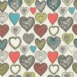 Valentine's card. Seamless pattern. Vector illustration. — Stok Vektör