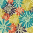Vector de stock : Vintage romantic seamless pattern with summer flowers