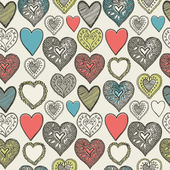 Valentine's card. Seamless pattern. Vector illustration. — Wektor stockowy