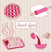 Bakery. Sweet love. — Stock Vector
