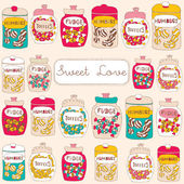 Candy seamless background — Vecteur