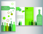 Wine brochure design template — Stock Vector