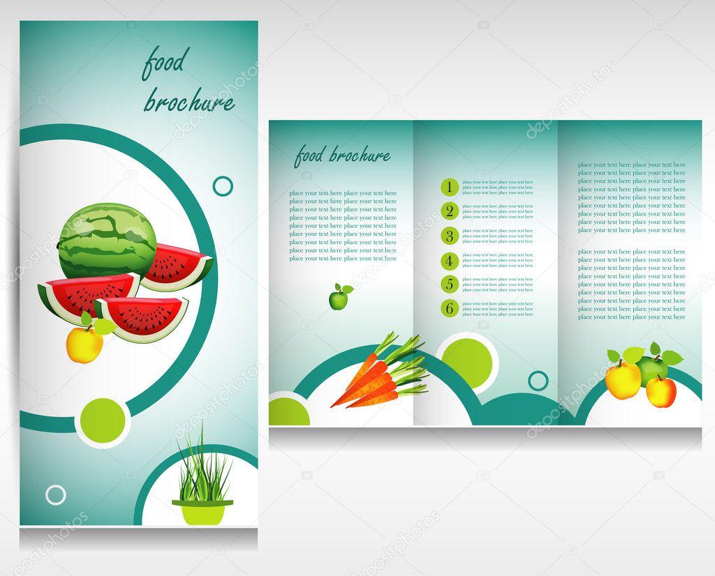 Food brochure design — Stock Vector © Kubko #21757233