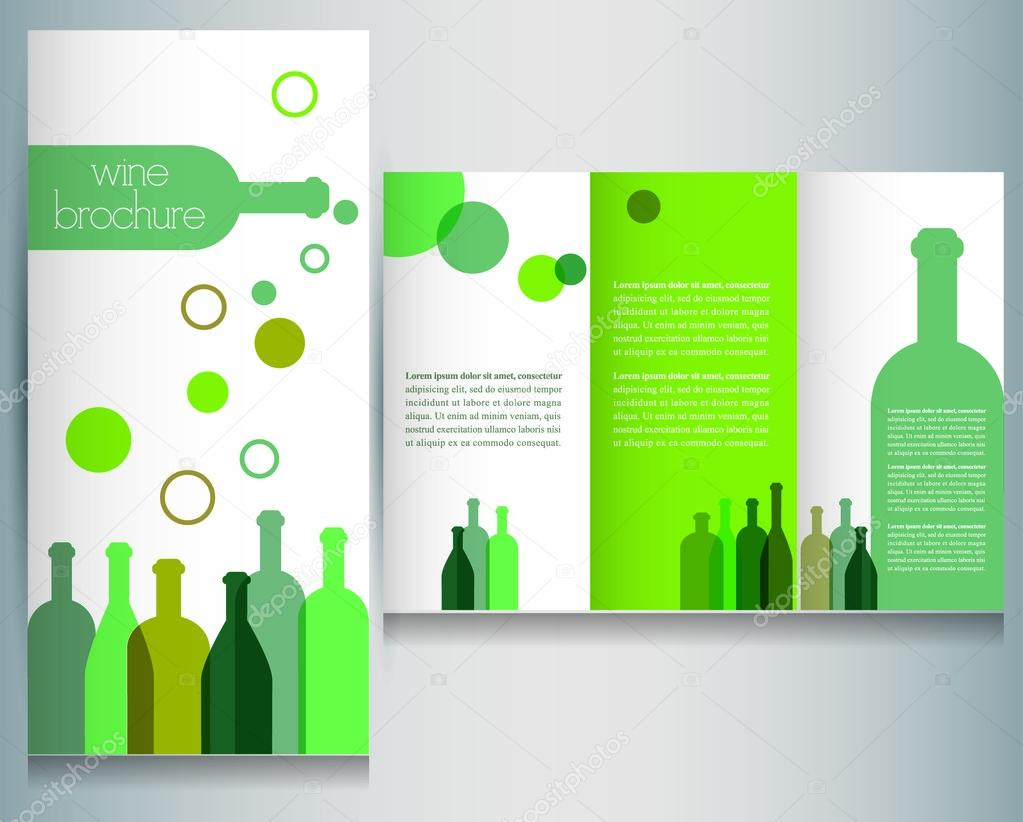 Wine brochure design template stock vector kubko 21759135 for Wine brochure template free