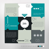 Modern design speech diagram for infographic. Vector numbered banners template. — Stock Vector