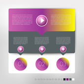 Schema del discorso moderno design infografico. modello numerato banner vettoriale. — Vettoriale Stock