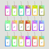 Set of stickers, labels, tags. Vector template — 图库矢量图片