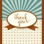 Retro vintage card design. Thank You concept. Vector illustration. — Stock Vector #24793177