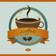 Stock vektor: Coffe menu card. Vintage vector.