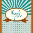 Retro vintage card design. Thank You concept. Vector illustration.  — Stock Vector