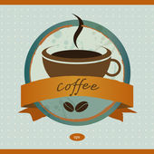 Coffe menu card. Vintage vector. — Stock Vector