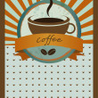 Coffee menu card. Vintage vector. - Stock Vector