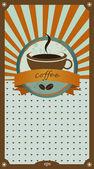 Coffee menu card. Vintage vector. — Stock Vector