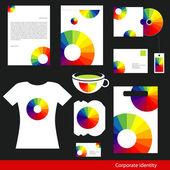 Corporate identity design. — Stock Vector