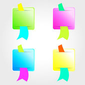 Conjunto de adesivos de cor. — Vetorial Stock