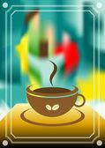 Coffee menu card. Vintage vector. Painting art flyer illustration. — Stock Vector