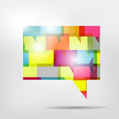 Speech bubble. Colorfull glossy communication icon. — Stock Vector