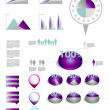 Infographics collection of 3D charts, speech bubbles and graphs. — Imagen vectorial