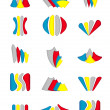 Set of abstract web icons. Infographics collection. — Stock Vector