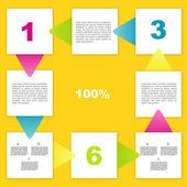 Инфографика элементы. Минималистичный речи пузыри. Счастливый красочные диаграмма с текстовое поле. — Cтоковый вектор