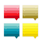 Speech bubbles collection. Infographics. — Stock Vector